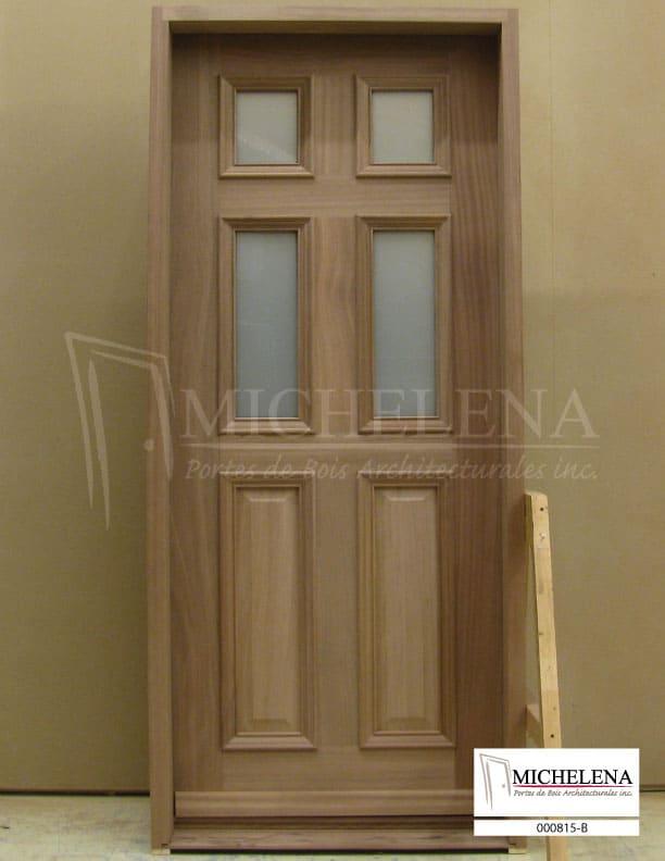 000815 b porte bois exterieure exterior wood door michelena for Porte de service exterieure bois