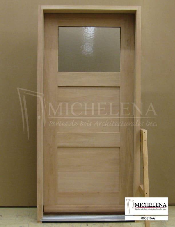 000816 a porte bois exterieure exterior wood door michelena for Porte exterieure bois vitree