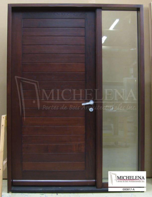 000817 a porte bois exterieure exterior wood door michelena for Porte exterieure bois