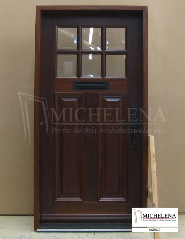000822 porte bois exterieure exterior wood door michelena. Black Bedroom Furniture Sets. Home Design Ideas