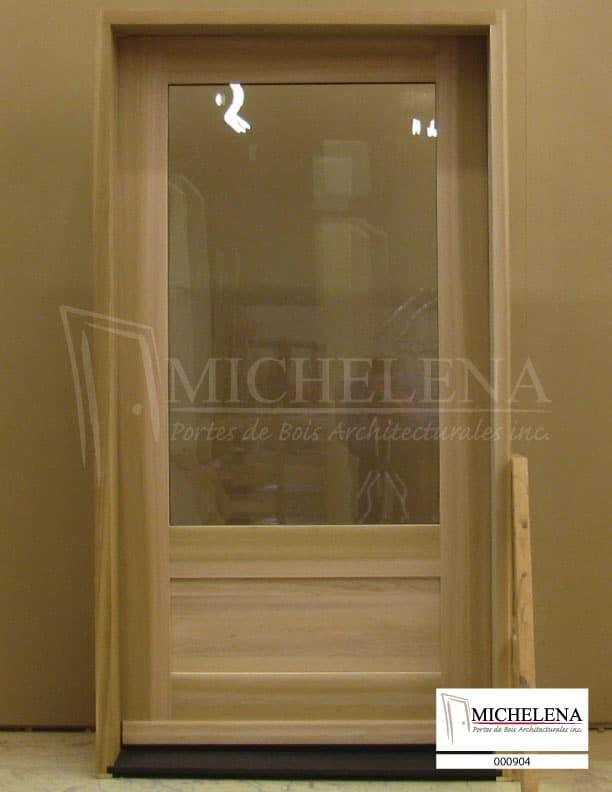 000904 porte bois exterieure exterior wood door michelena for Porte exterieure bois
