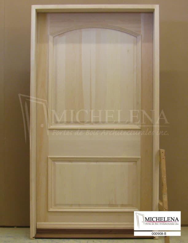 000908 b porte bois exterieure exterior wood door michelena for Porte exterieure bois