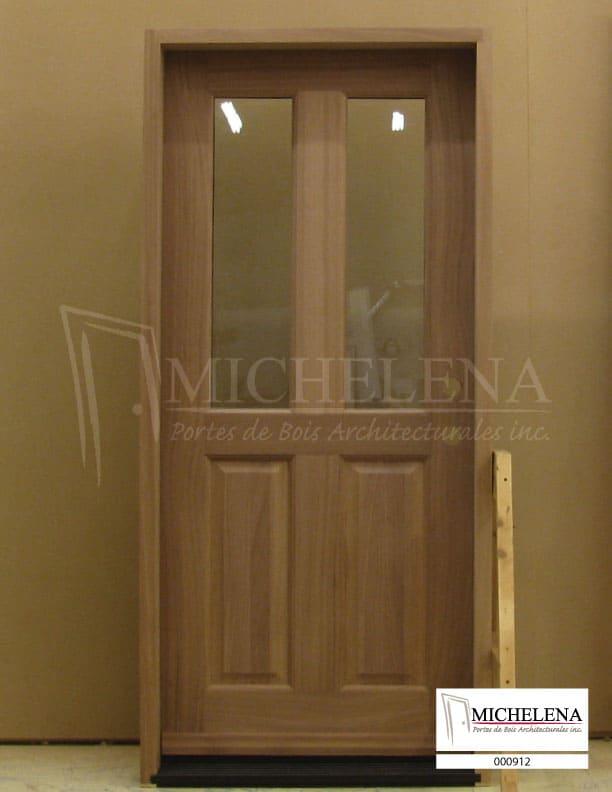 000912 porte bois exterieure exterior wood door michelena for Porte exterieure bois