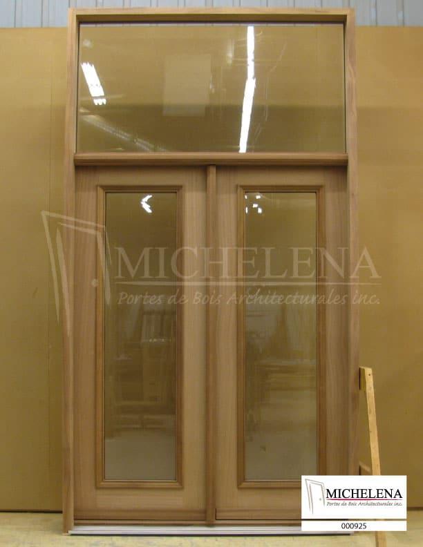 000925 porte bois exterieure exterior wood door michelena for Porte exterieure bois
