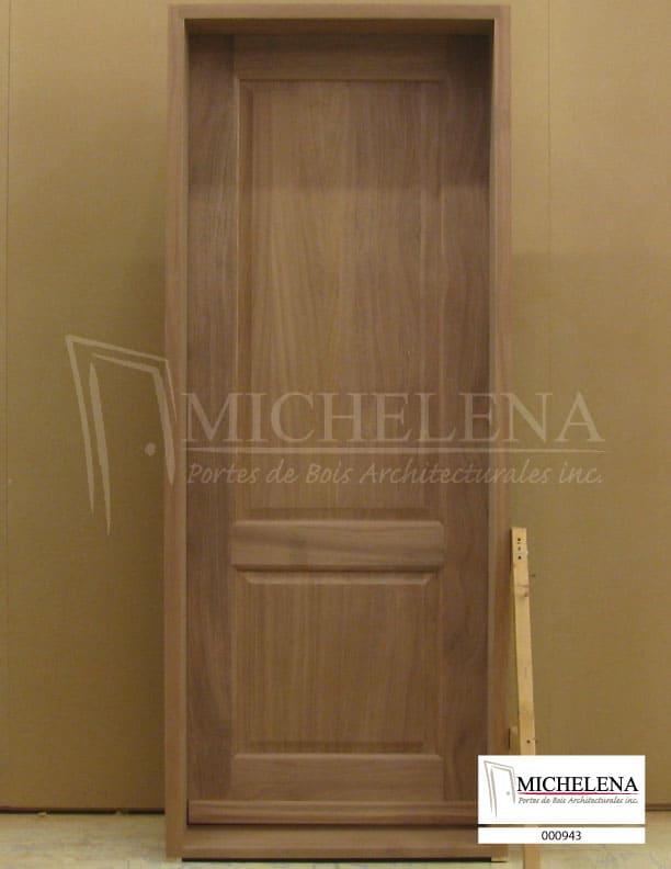 000943 porte bois exterieure exterior wood door michelena for Porte exterieure bois