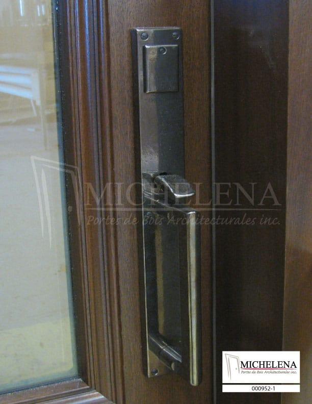 000952 1 porte bois exterieure exterior wood door michelena for Porte exterieure bois vitree