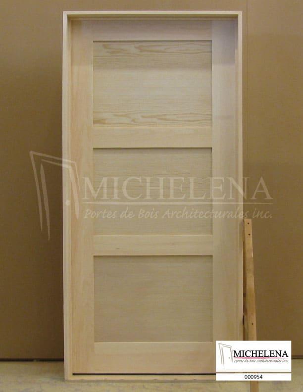 000954 porte bois exterieure exterior wood door michelena for Porte de service exterieure bois