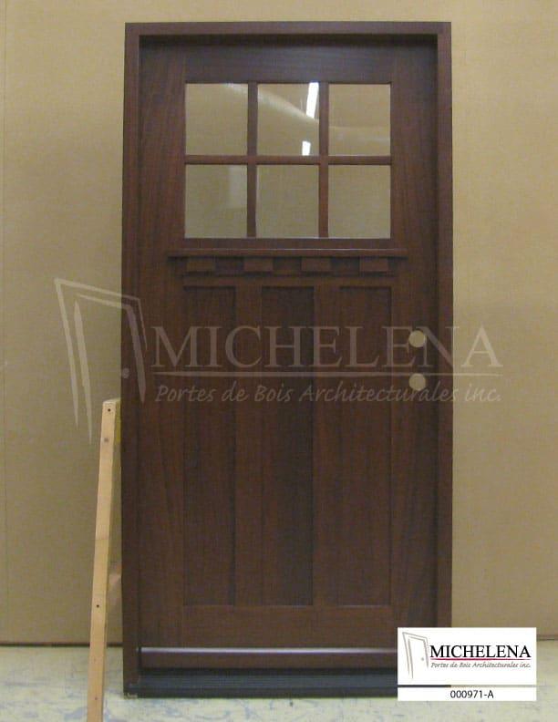 000971 a porte bois exterieure exterior wood door michelena for Porte exterieure bois