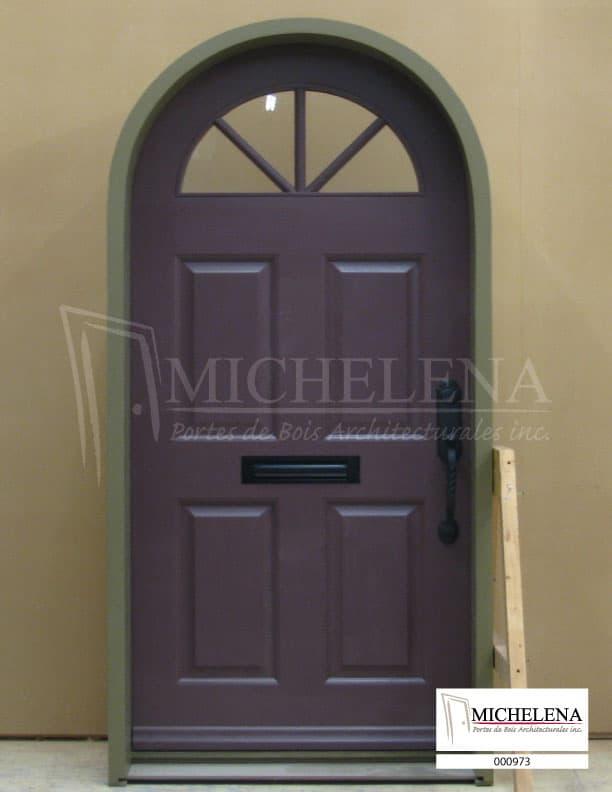 000973 porte bois exterieure exterior wood door michelena for Porte de service exterieure bois