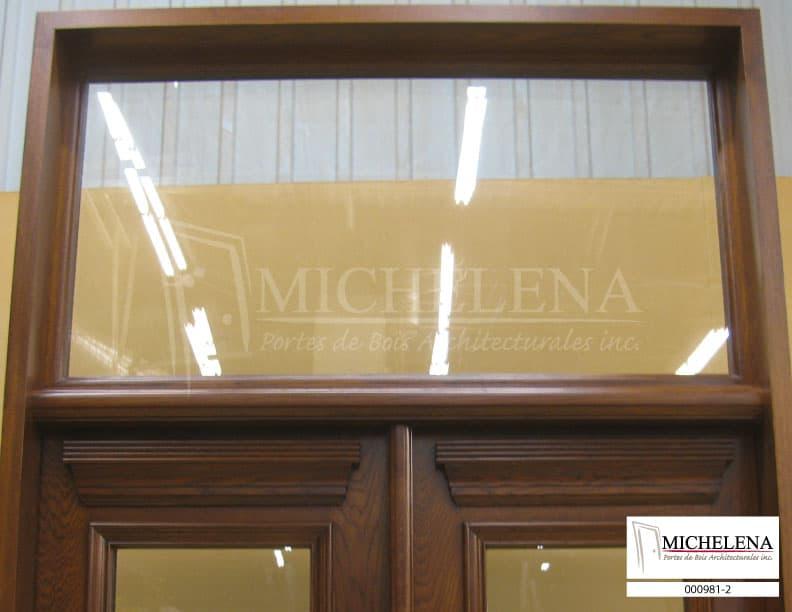 000981 2 porte bois exterieure exterior wood door michelena for Porte de service exterieure bois