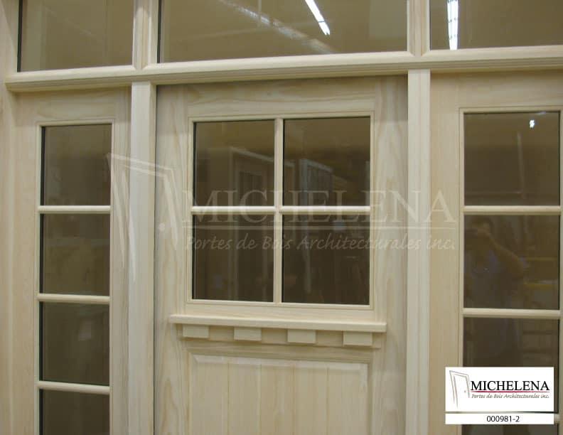 000987 1 porte bois exterieure exterior wood door michelena for Porte exterieure bois vitree