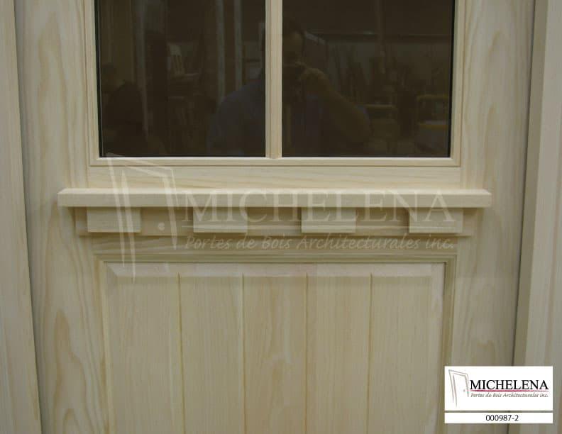 000987 2 porte bois exterieure exterior wood door michelena for Porte de service exterieure bois