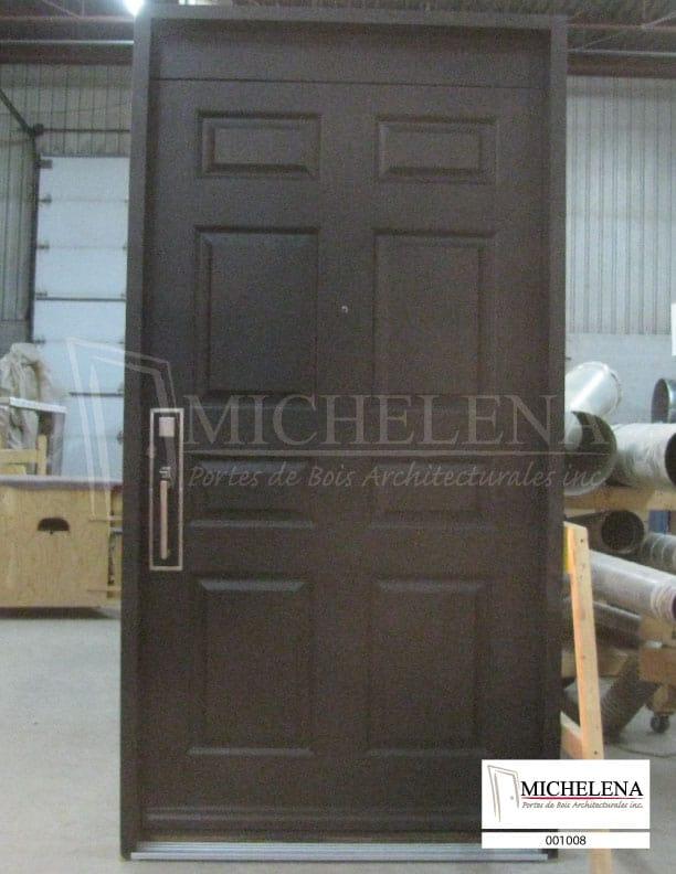001008 porte bois exterieure exterior wood door michelena for Porte de service exterieure bois