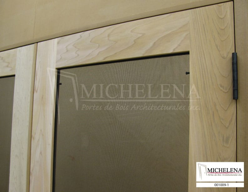 001009 1 porte bois exterieure exterior wood door michelena for Porte de service exterieure bois