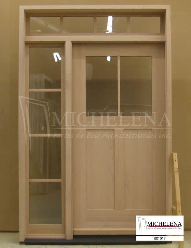 001017 porte bois exterieure exterior wood door michelena for Porte exterieure bois vitree