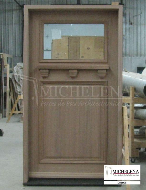 001025 porte bois exterieure exterior wood door michelena for Porte exterieure bois