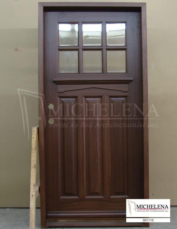 001110 porte bois exterieure exterior wood door michelena for Porte exterieure bois vitree