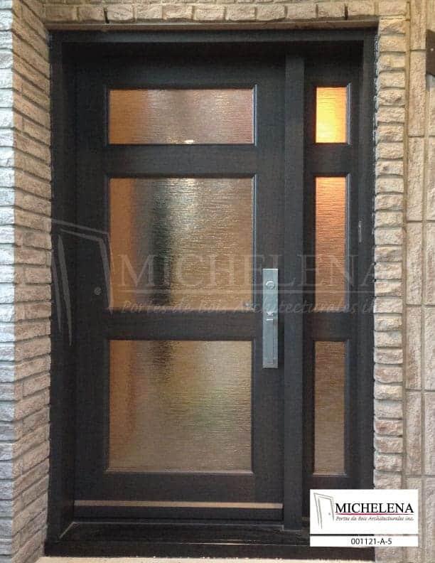 001121 a 5 porte bois exterieure exterior wood door for Porte exterieure de service