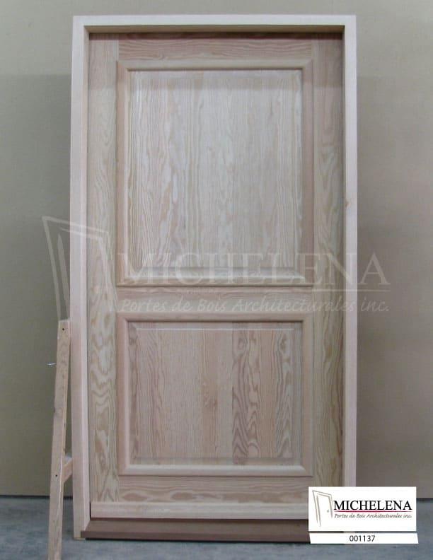 001137 porte bois exterieure exterior wood door michelena for Porte exterieure bois