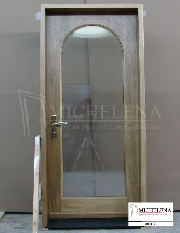 001186 porte bois exterieure exterior wood door michelena for Porte de service exterieure bois
