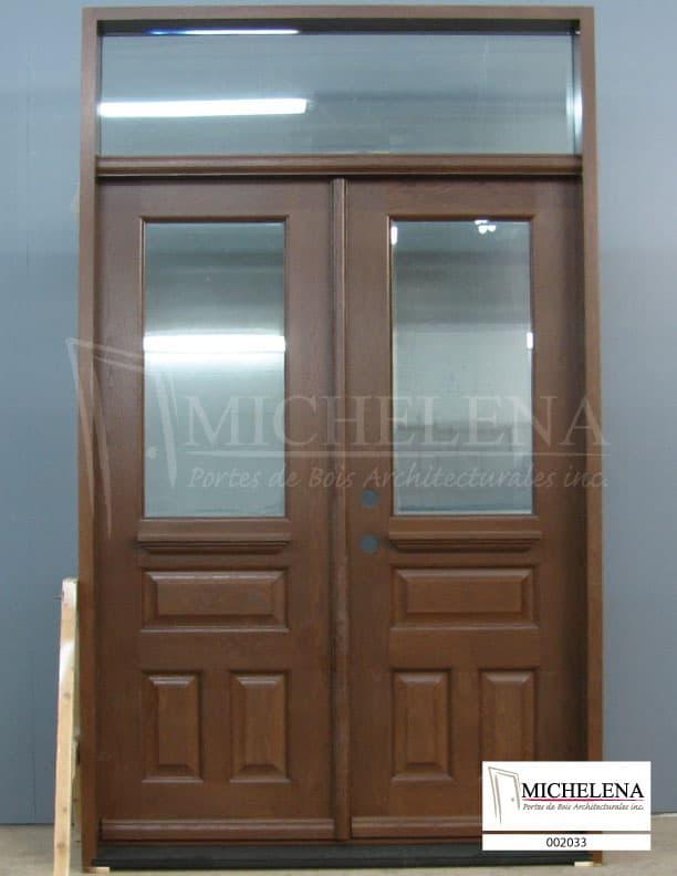 002033 porte bois exterieure exterior wood door michelena for Porte exterieure bois