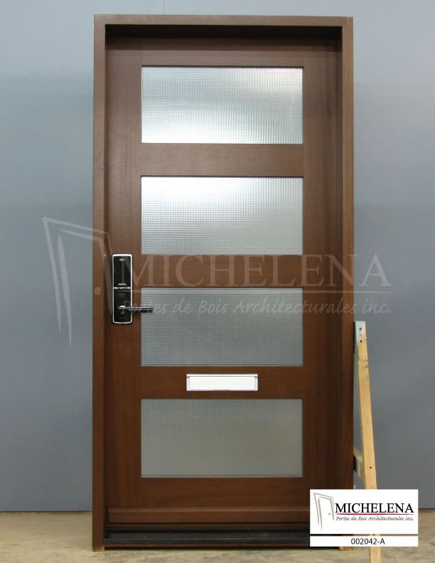002042 a porte bois exterieure exterior wood door michelena for Porte exterieure bois