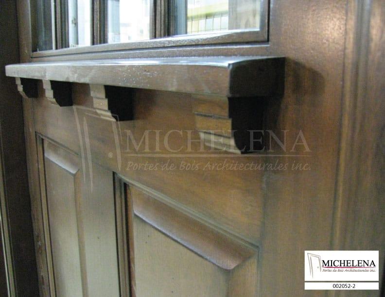002052 2 porte bois exterieure exterior wood door michelena for Porte de service exterieure bois