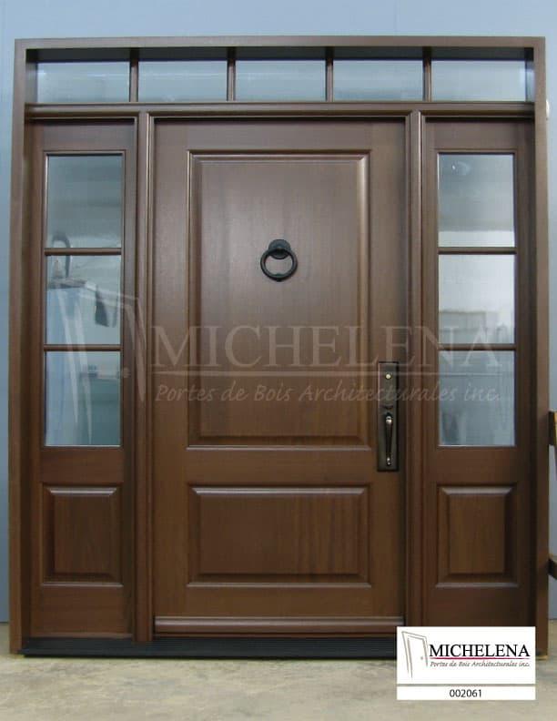 002061 porte bois exterieure exterior wood door michelena for Porte exterieure bois