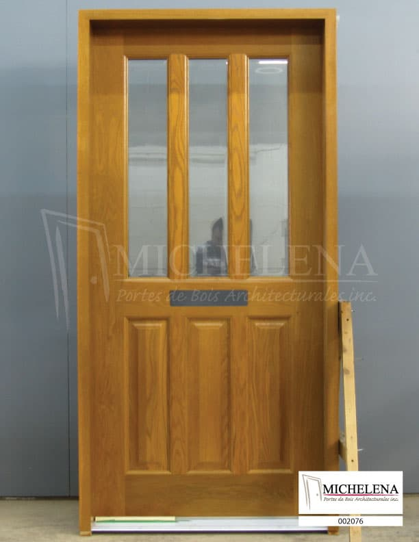 002076 porte bois exterieure exterior wood door michelena for Porte exterieure bois