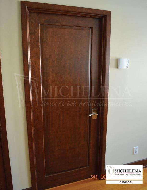 002080 3 porte bois interieure interior wood door michelena for Porte de chambre en bois
