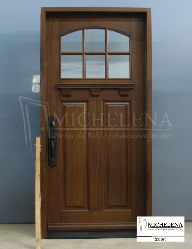 002082 porte bois exterieure exterior wood door michelena for Porte exterieure bois