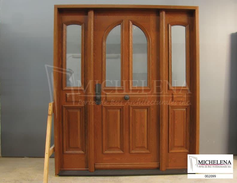 002099 porte bois exterieure exterior wood door michelena for Porte exterieure bois