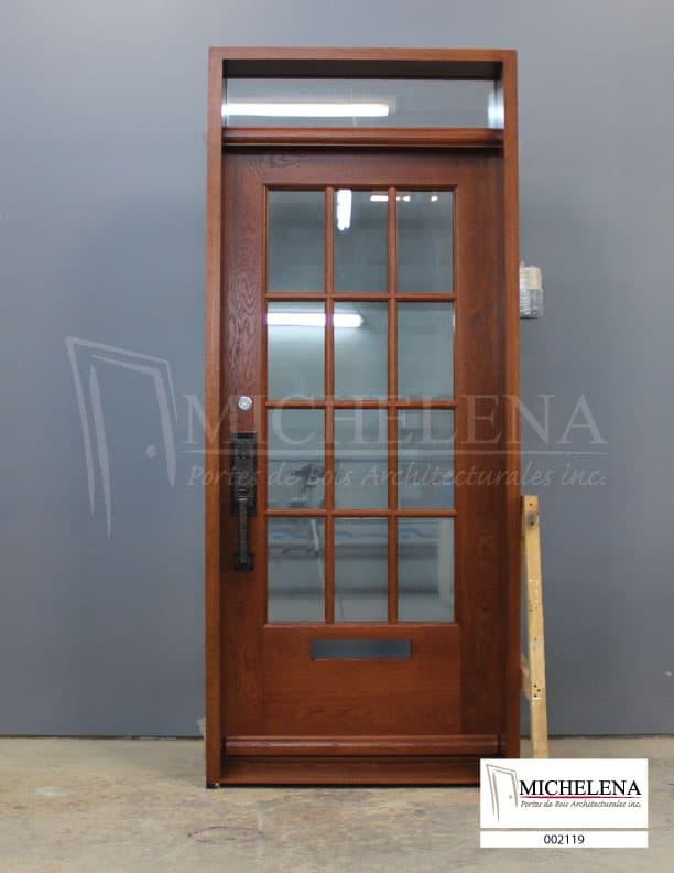002119 porte bois exterieure exterior wood door michelena for Porte exterieure bois