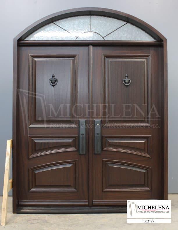 002129 porte bois exterieure exterior wood door michelena for Porte exterieure bois