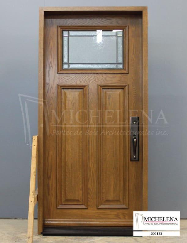 002133 porte bois exterieure exterior wood door michelena for Porte exterieure bois