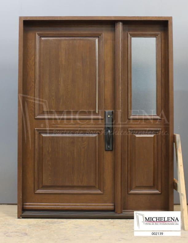 002139 a porte bois exterieure exterior wood door michelena for Porte exterieure bois