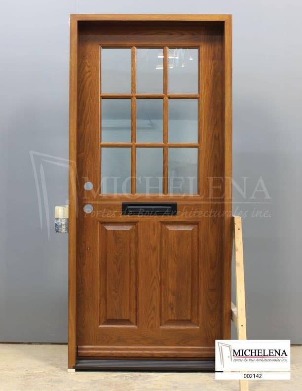 002142 porte bois exterieure exterior wood door michelena for Porte exterieure bois
