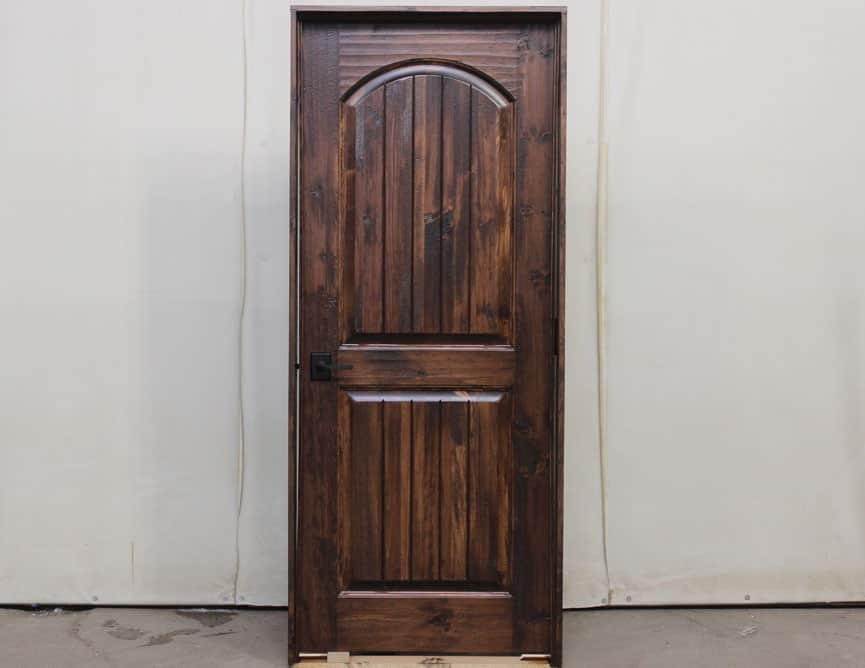 Porte intérieure en Pin Noueux avec deux panneaux Standards