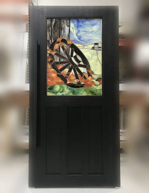 Porte Intérieur Peuplier Massif et Poignée à Tirer AHI et Encastré Custom