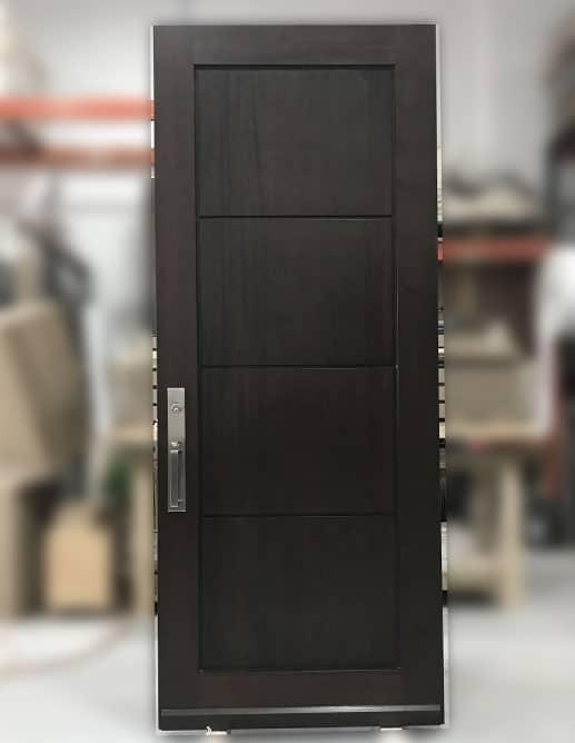 Porte Extérieur Acajou Sapele Poignée Clenche Mortaise GS300