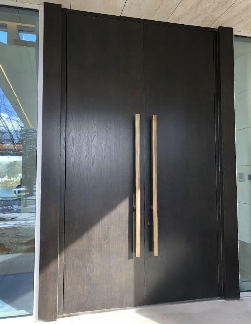 Porte Extérieur en Chêne blanc grain régulier