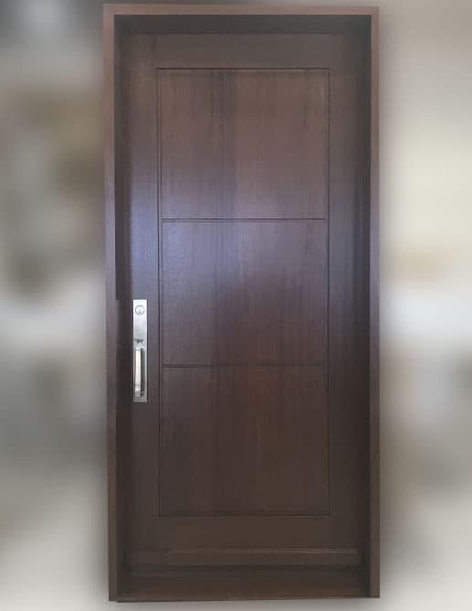 Porte Extérieur Acajou Sapele. Poignée à Clenche Mortaise Minneapolis Baldwin