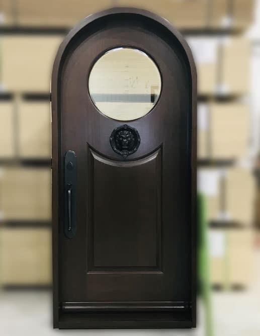 Porte Extérieur Acajou Sapele Tête Demi-Lune Poignée Ashley Norton