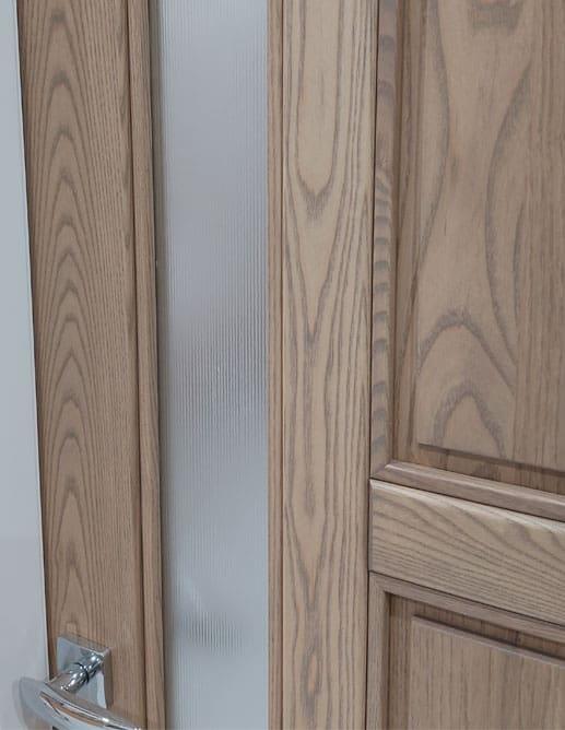 Porte Intérieur Bois Massif Frêne Select & Meilleur et Poignée Colombo BOLD Mortaise Magnetique