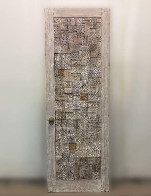 Porte Intérieur Acajou Sapele Brossé Sur-Mesure Coulissante Surface Cachée Magic